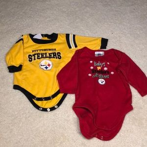 Baby boy Steelers onesies